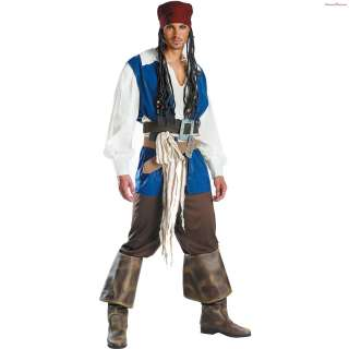 Pirates of the Caribbean 3 Captain Jack Sparrow Quality Adult Costume