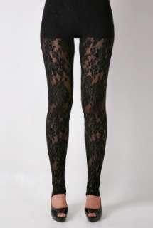 Black Nivona Lace Leggings By Malene Birger   Black   Buy Leggings
