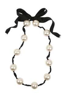 Black Pearla Pearl Necklace By Malene Birger   Black   Buy Jewellery