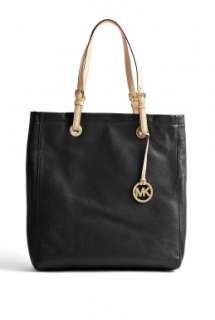 MICHAEL Michael Kors  Black Jet Set Leather Tote by MICHAEL Michael