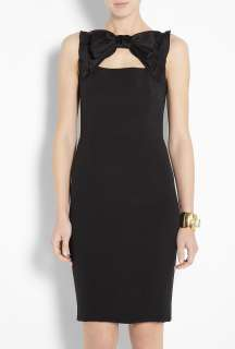 Moschino Cheap & Chic  Black Crepe Bow Neck Pencil Dress by Moschino