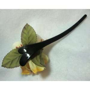 Natural Golden Dogwood Flower Hair Stick