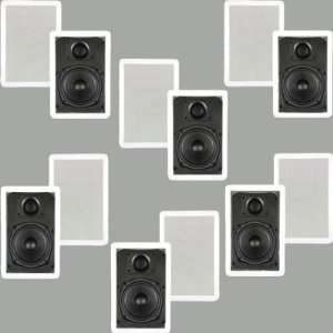 6 Pair New 5.25 In Wall Surround Sound Home Theater