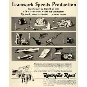 War Production Materials Guns Ammunition Airplanes   Original Print Ad