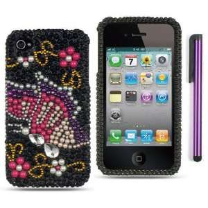com Premium Apple Iphone 4, 4s Phone Protector Hard Cover Case Black