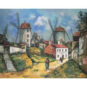 Hand Made Oil Reproduction   Maurice Utrillo   32 x 26 inches   The