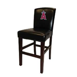 MLB Angels Bar Stool in Black Finish with 30 Seat Height