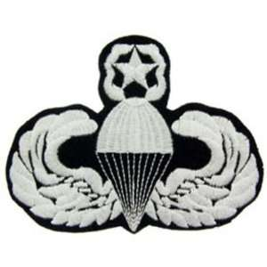 Army Master Paratrooper Patch Black & White 3 Patio, Lawn & Garden