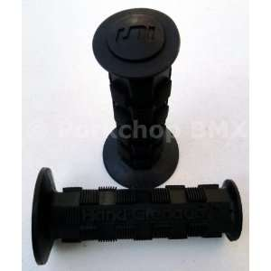 Grenade / 2 old school BMX bicycle grips   BLACK Sports & Outdoors
