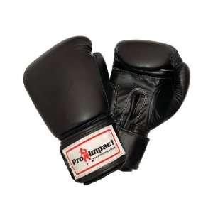 Genuine Leather Boxing Gloves Black 16 Oz. Pro Impact ($80