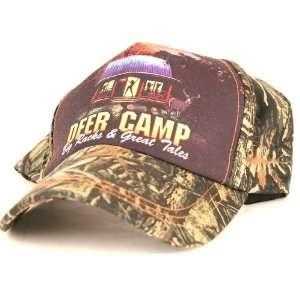 Camouflage Hunting Baseball Cap, Says Deer Camp Big Racks