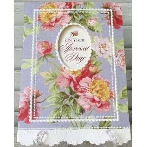 Carol Wilson Feminine Birthday Card Vintage Pink Peonies