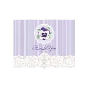Carol Wilson Pansy Boxed Thank You Cards 8 Ct Scripture