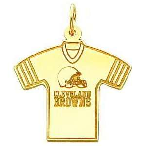 14K Gold NFL Cleveland Browns Football Jersey Charm
