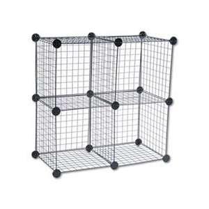Wire Cube Shelving System, 14w x 14d x 14h, Black Home
