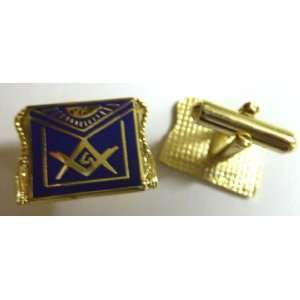Masonic APRON Freemason Square & Compass Cufflink Set: Everything Else