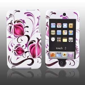 for iPod Touch 2 & 3 Hard Case PINK Pomegranate WHITE