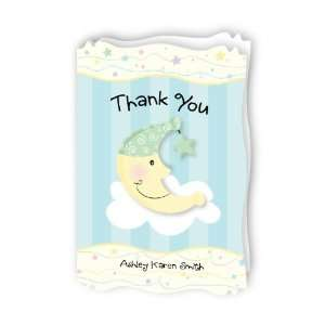 Moon & Star   Personalized Baby Thank You Cards With