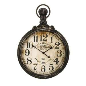 Antiqued Old Town Pocket Wall Clock: Home & Kitchen