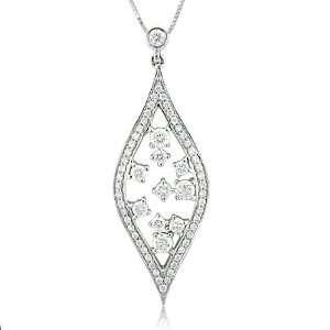 Tear Drop Diamond Pendant Necklace (GH, I1 I2, 0.77 carat) Diamond