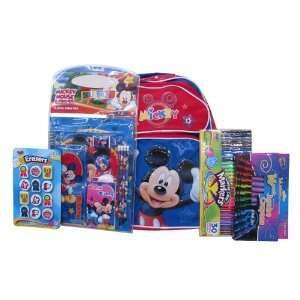 Disney Mickey Mouse Happy Back to School Backpack Bundle