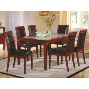 7pc Carnaion Collecion Solid Wood Dining able & 6 Chairs Se