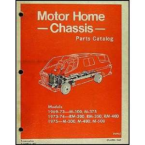1969 1975 Dodge Motorhome Parts Book Original: Dodge: