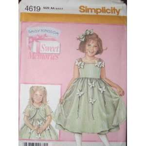 SIMPLICITY PATTERN 4619 CHILDS DRESS AND JACKET SIZE AA 3 6