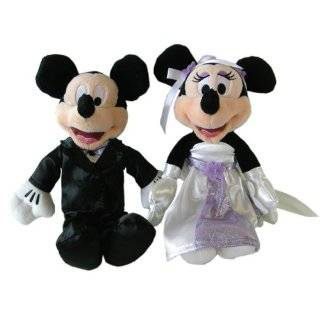 Disney Mickey and Minnie Mouse Wedding Pillow Cushion Plush Soft