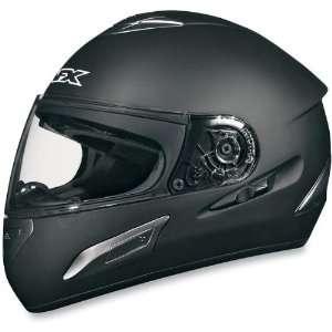 100 Full Face Motorcycle Helmet w/Inner Shield Flat Black Automotive