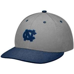 Tar Heels (UNC) Gray Navy Blue Baseball Authentic 643 Fitted Hat
