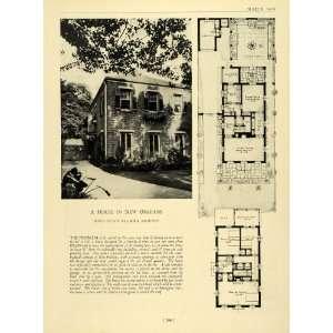Wellborn Architecture Blueprints Floor Plan   Original Halftone Print