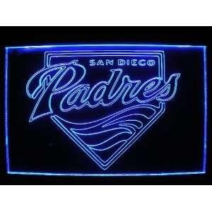 MLB   San Diego Padres Team Logo Neon Light Sign