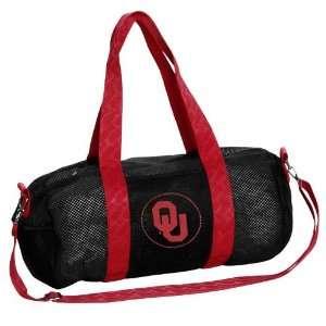 Oklahoma Sooners Black Mesh Duffel Tote Bag