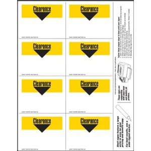 Clearance   Small Item Price Shelf Signs (800pk)   3.5x2