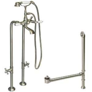 37 1/2 Liffy Freestanding Tub Faucet, Supplies, and Drain