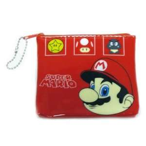 Mario Bro Super Red Vinyl Coin Purse Toys & Games