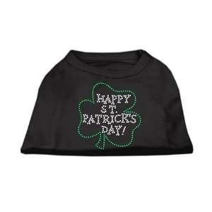 Happy St Patricks Day Rhinestone Shirts Black Xl (16)