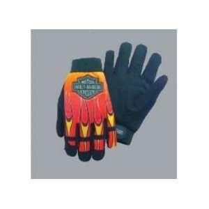 Harley Davidson Flames Mechanics Glove