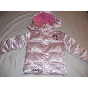 Hello Kitty Girl Puffer Jacket w/ Removable Hood   Pink