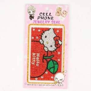 Hello Kitty Cell Phone Sticker Shining Seal Red