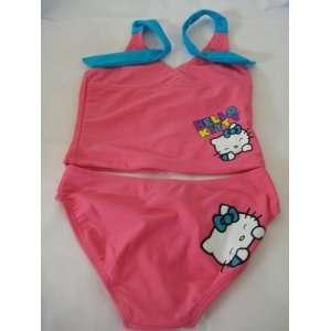 Hello Kitty Infants Toddler Girl 2 PCS Bikini Set Swimsuit; Size 4