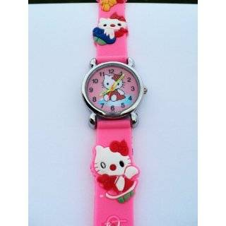 Hello Kitty Classic Ladies Quartz Wrist Watch Pink with Hello Kitty