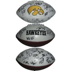 2010 Iowa Hawkeyes Team Signed Logo Football Stanzi