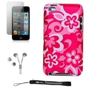 Flowers Design Cover / 2 Piece Snap On Case for New Apple iPod Touch