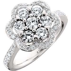 1.25 Carat 18kt White Gold Diamond Ring Jewelry