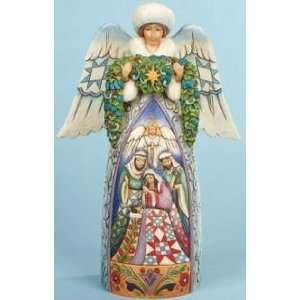 Enesco Jim Shore Winter Angel Nativity Night Devine