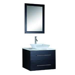 USA MS 560 Marsala 30 Inch Wall Mounted Single Sink Bathroom Vanity