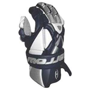 Harrow Mens Syncro Lacrosse Gloves WHITE/NAVY 12: Sports