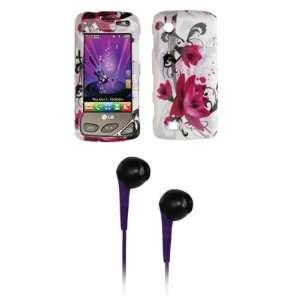 LG Chocolate Touch VX8575 Premium Purple Flower Snap on Case